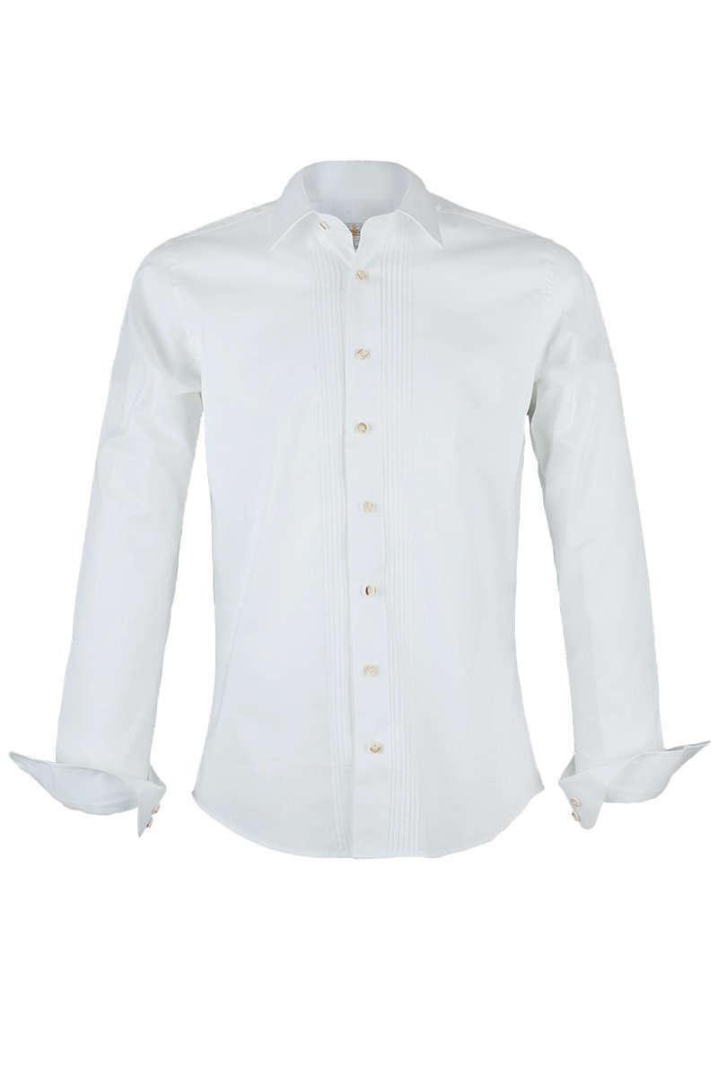 Weißes Trachtenhemd Slim Fit