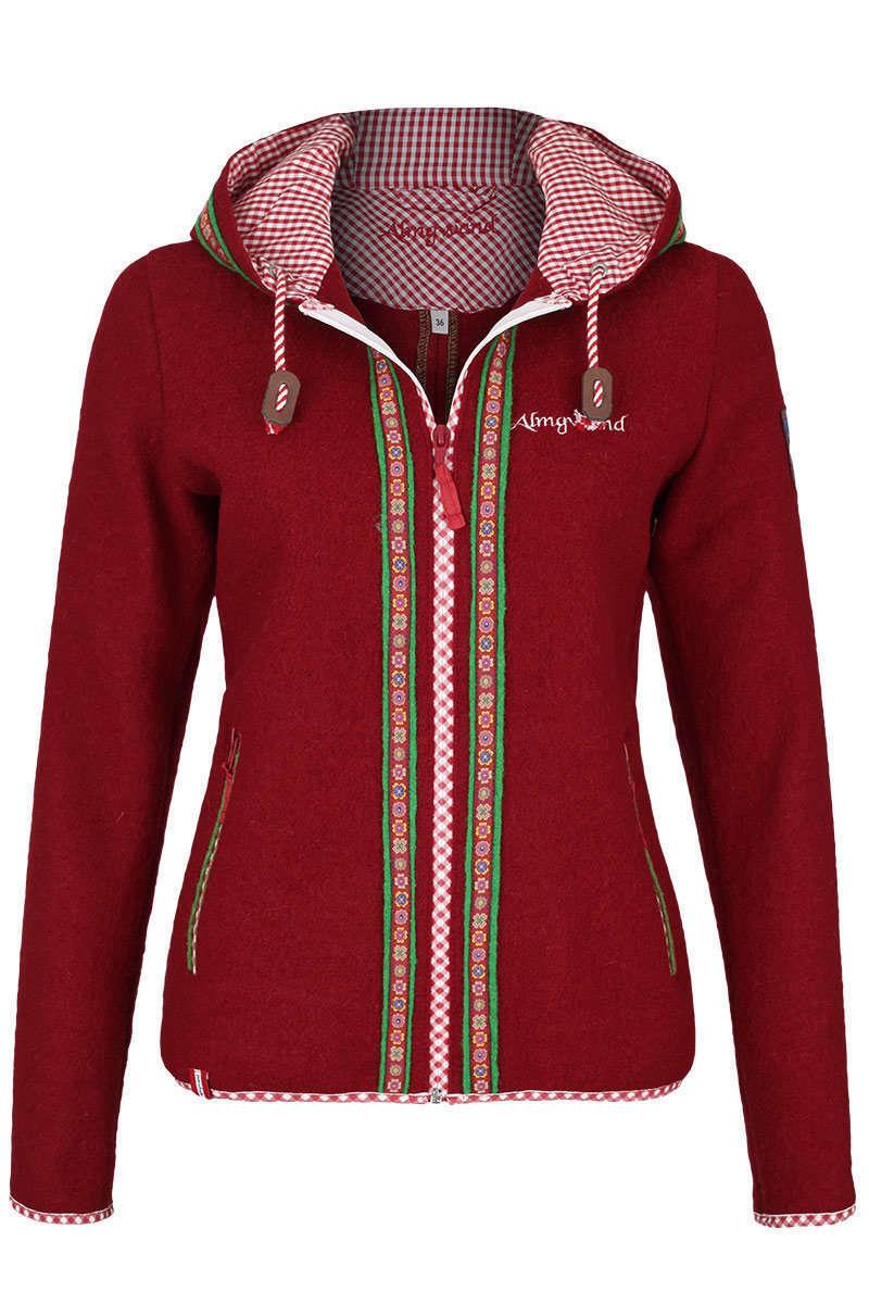 Ganz und zu Extrem Damen Trachtenjacke mit Kapuze rot - Damen - Trachten Werner &GV_33