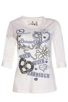 32addd79a6658a MarJo Damen Trachten-Shirt mit 3 4-Arm weiss