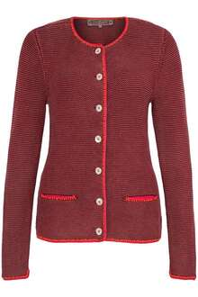 Damen Trachten Strickjacke bordeaux