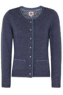 20ce8d7a44e382 Spieth & Wensky Damen Trachten Strickjacke jeansblau