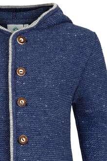 174d8c39de Kinder Trachten-Strick-Janker mit Kapuze jeansblau