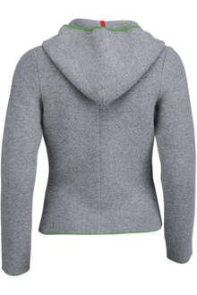Außergewöhnlich Trachten Strickjacke mit Kapuze grau-grün 'Fiona' - Damen &FF_73