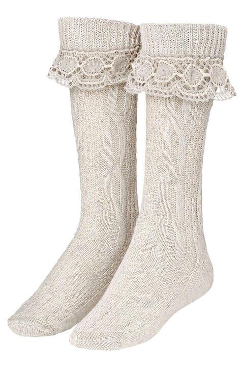 Schuhmacher Socke mit Spitze CS530 weiss