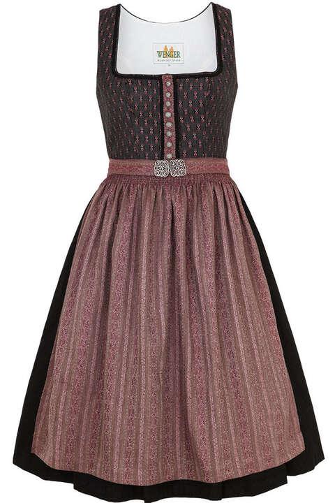 midi dirndl grau mit rosa broschen sch rze midi dirndl. Black Bedroom Furniture Sets. Home Design Ideas
