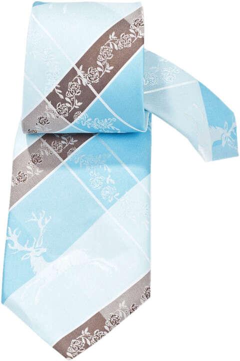 trachten krawatte hirsch t rkis braun trachtenanz ge herren trachten werner leichtl ohg. Black Bedroom Furniture Sets. Home Design Ideas