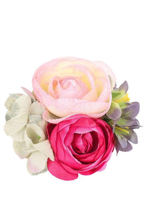 Trachten Blumenclip Haar- oder Hutschmuck pink rosa - Geschenke ...