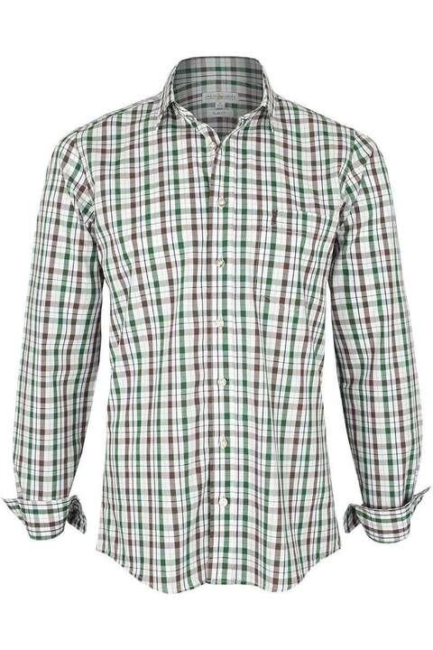 hemd slim fit kariert braun tanne slim fit hemden trachtenhemden herren trachten werner. Black Bedroom Furniture Sets. Home Design Ideas